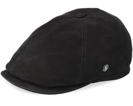 Leather Black Flat Cap - City Sport