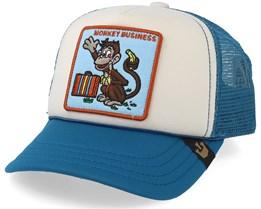 Kids Monkey Business White/Blue Trucker - Goorin Bros.