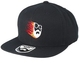 Beard Comet Black Snapback - Bearded Man