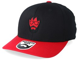 Flame Red/Black Flexfit - Bearded Man