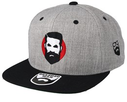 Sunshine Man Grey/Black Snapback - Bearded Man