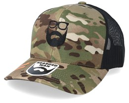 Logo Green Camo/Black Trucker - Bearded Man
