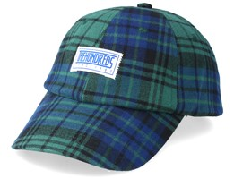 Bolt Dad Hat Checked Green/Blue Adjustable - The Hundreds