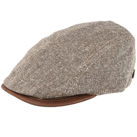 Keps Daffy 3 Brown Flat Cap - MJM Hats - Brun Flat Caps
