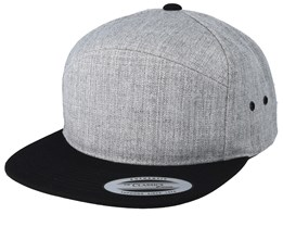 Arch Heather Grey/Black Snapback - Yupoong