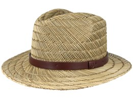 Messer Straw Tan Fedora - Brixton