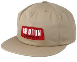 Team II Medium Profile Khaki Snapback - Brixton