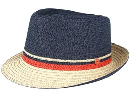 Troy Navy/Natural Trilby - Mayser