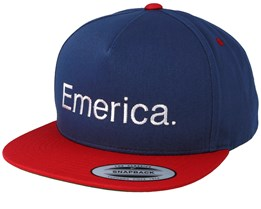 Pure Navy/Red/White Snapback - Emerica