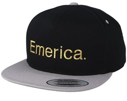 Pure Black/Silver/Gold Snapback - Emerica