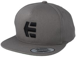 Iconic Light Grey/Black Snapback - Etnies