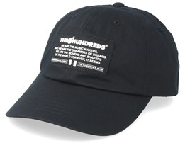 Runner Dad Cap Black Adjustable - The Hundreds
