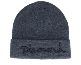 Og Script Dark Grey/Black Cuff - Diamond