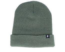 Dirty P Waffle Two-Fer Olive Beanie - Primitive Apparel