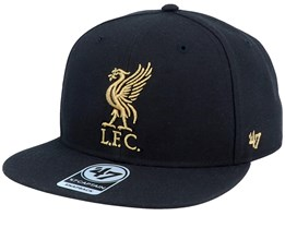 Liverpool Exclusive Metallic Black/Gold Snapback - 47 Brand