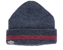 3c Wool Mix Grey/Black/Red Cuff - MJM Hats