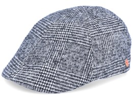 Paddy Casual Black/White Flat Cap - Mayser