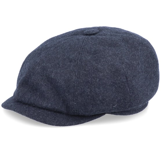 Keps Seven Premium Dark Grey Flat Cap - Mayser - Grå Flat Caps