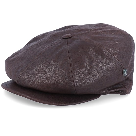 Keps Suede Leather Brown Flat Cap - City Sport - Brun Flat Caps