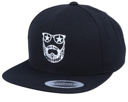 Day of The Beard Black Snapback - Bearded Man