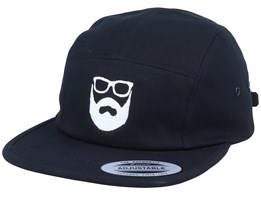 Logo Black/White 5-Panel - Bearded Man