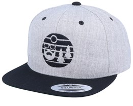 Sunset Heather Grey/Black Snapback - Bearded Man