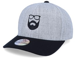 Logo 2 Heather Grey/Black Adjustable - Bearded Man