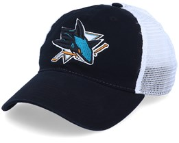 San Jose Sharks Value Core Unstructured Black/White Trucker - Fanatics