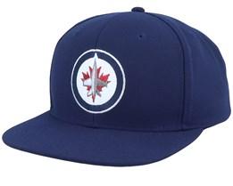 Winnipeg Jets Value Core Navy Snapback - Fanatics