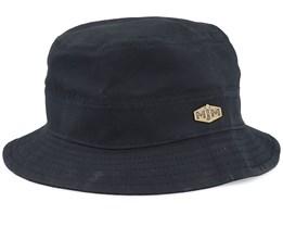 Max Wax Cotton W.P 2 Black Bucket - MJM Hats