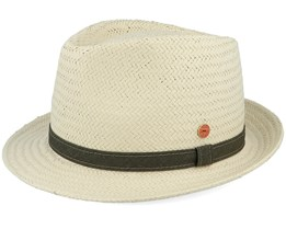Troy Paper P Natural Straw Hat - Mayser