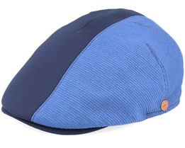 Jasper Dart Blue Flat Cap - Mayser