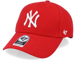 New York Yankees Mvp Red/White Adjustable - 47 Brand