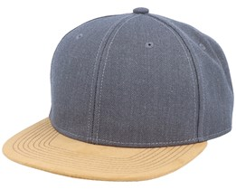 Blank Suede Dark Heather Grey Snapback - Equip