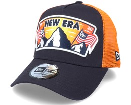 Ne Usa Patch Trucker Navy/Orange Trucker - New Era
