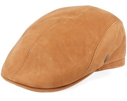 M22 Suede Leather Brown Flat Cap - City Sport