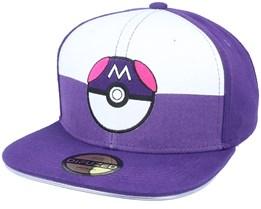 Pokémon Led Lighted Luminous Embroidery Patch Purple/White Snapback - Difuzed