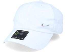 Metal Swoosh Cap White Adjustable - Nike