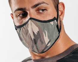 Antimicrobial Camo Face Mask - Brixton