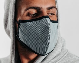 Antimicrobial Engineer Stripes Face Mask - Brixton