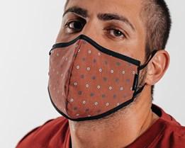 Antimicrobial Polka Face Mask - Brixton