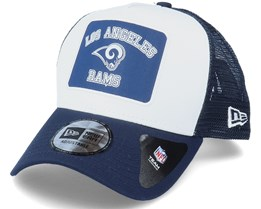 Los Angeles Rams Graphic Patch A-Frame White/Navy Trucker - New Era