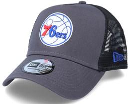 Philadelphia 76ers Dark Base  A-Frame Dark/Grey Trucker - New Era