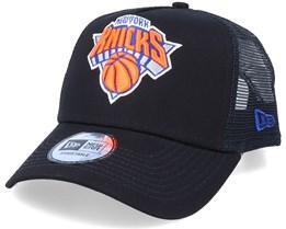 New York Knicks Dark Base  A-Frame Black Trucker - New Era