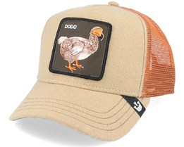 Bye Bye Birdy Wool Beige/Rust Trucker - Goorin Bros.