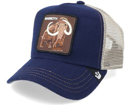 Yes Mammoth Wool Navy/Grey Trucker - Goorin Bros.