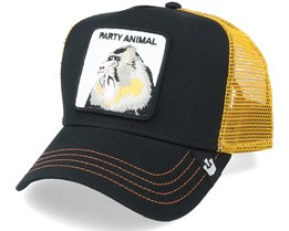 Party Animal Black/Yellow Trucker - Goorin Bros.