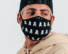 2-Pack Skull Black Face Mask - Headzone