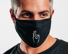 1-Pack Easy Black Face Mask - Headzone
