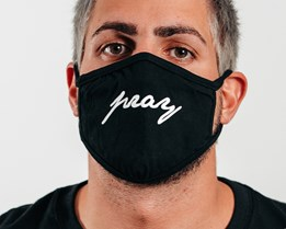 1-Pack Pray Black Face Mask - Headzone
